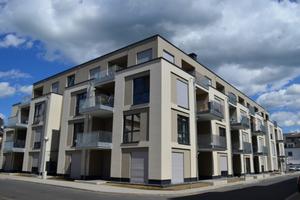 In Remagen ist ein modernes Stadtpalais entstanden, das neben Wohnungen auch eine Bäckerei sowie ein Hotel umfasst