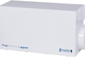 Mit PluggVoxx pure lassen sich schädliche Aerosole Dank bipolarer Ionisation aus der Raumluft entfernen