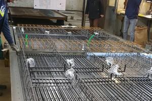 Das Flächenheiz- und Kühlsystem wurde direkt in die Betonfertigdecke eingebracht<br />