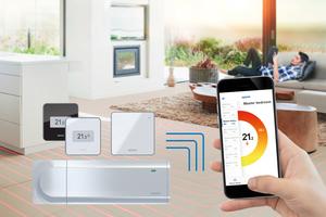Die Raumtemperaturregelung Uponor Smatrix Pulse steuert die Heizung und Kühlung sehr effektiv. Die Produktreihe Smatrix Pulse überzeugt darüber hinaus mit ihren Smart-Home-Funktionen