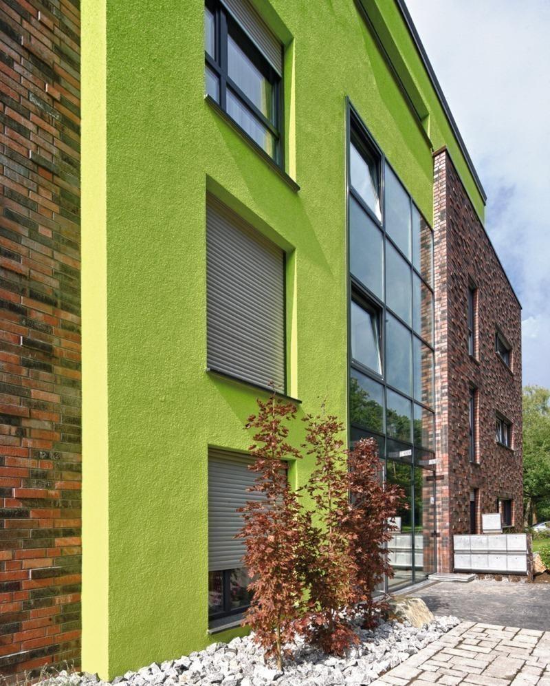 Fassadenfarbe grüntöne  Farbspiele - BundesBauBlatt