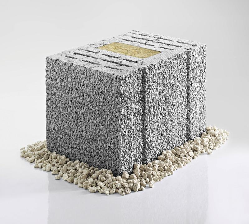 Mauerstein Mit Integrierter Dämmung