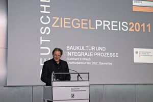 BundesBauBlatt-Chefredakteur Burkhard Fröhlich hielt ein Impulsreferat über Baukultur und Integrale Prozesse<br />