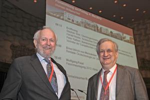 Ernst Ulrich von Weizsäcker und Wolfgang Feist bei der Eröffnung der 16. Internationalen Passivhaustagung<br />