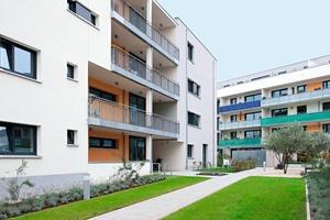 Das Bauprojekt sunbase mit 103 unterschiedlichen, größtenteils barrierefreien Wohnungen ist wie alle Gebäude von Bien Ries individuell geplant und in Massivbauweise mit Kalksandstein erstellt<br />