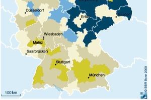 Entwicklung der Wohnflächennachfrage insgesamt 2010 bis 2025 in %<br />