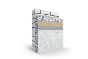 Prinzipieller Systemaufbau von Wärmedämm-Verbundsystemen: Die Basis bilden häufig Polystyrol ...