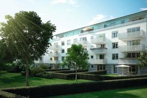 <strong>Projekt Cubiente in Unterhaching: </strong>Innenhof<br />