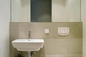 Der Klein-Durchlauferhitzer MDH7 unter dem Waschbecken im Gäste-WC hat DIN A4-Maße<br />