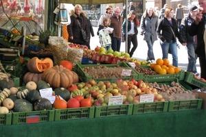 Leben in der Stadt: Viktualienmarkt in München