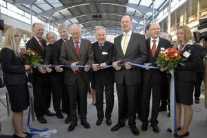 Minister Tiefensee bei der Eröffnung