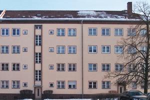 Die Außenansicht des Quartiers. Die Mieter sparen bei den Betriebskosten für die Wärmebereitstellung über 35%.<br />