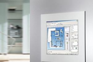Visualisierung von Gebäudefunktionen über eine Benutzeroberfläche und deren bedienfreundliche Steuerung über eine Benutzeroberfläche. 