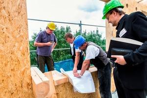 Einbau einer Holzwand