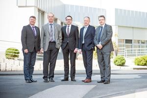 Partner: (v.l.n.r.) Jürgen Niedereichholz (Heizung + Sanitär Mewes), Gerhard Rother (WG Witten-Mitte), Peter Kunz (ista), Antonio Fischetti (Genek) und Frank Nolte (WG Witten-Mitte)