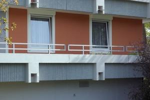 Die Aufgabenstellung erweiterte sich im Verlauf der Instandsetzung: 6 000 m<sup>2</sup> Balkonbodenflächen wurden zusätzlich überarbeitet <br />