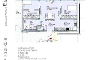 Die Wohnungen verfügen über 1,5-, 2-oder 3-Zimmer