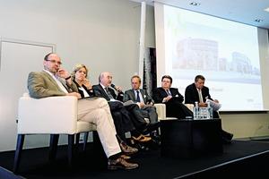 Wohnungspolitische Runde beim VdW-Forum Wohnungswirtschaft 2012 in Düsseldorf<br />