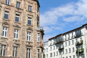Saniert und unsaniert nebeneinander: Berlin, Prenzlauer Berg<br />