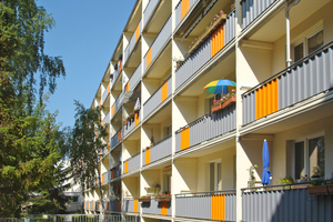 Auch die Balkone erstrahlen in neuem Glanz
