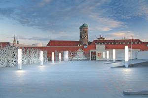 Die Salvatorgarage in München verbindet Denkmalschutz und Modernität. Die Parkflächen sind dauerhaft vor Witterungseinflüssen geschützt