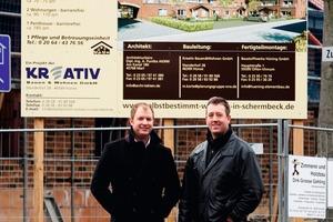 <strong>Zufriedene Bauherren: </strong>Matthias Korte (links) und Daniel Salomon, beide Geschäftsführer der Kreativ Bauen &amp; Wohnen GmbH aus Hünxe<br />