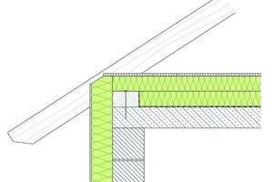 Nach KfW (Kreditanstalt für Wiederaufbau) förderbare Dachbodendämmung mit einem U-Wert von 0,15 W/m²K