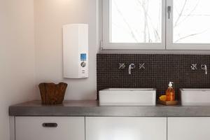 Elektronische Durchlauferhitzer sorgen für sparsamem Umgang mit Wasser und Energie