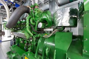 DieBlockheizkraftwerkeliefern eine Gesamtleistung von 1,2 MW