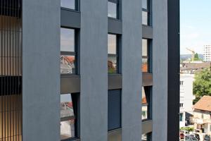 Schick, modern, mit viel Licht, klaren Linien und in bevorzugter Wohnhöhe mit Blick auf die Dächer von Zürich – so zeigt sich das Pile Up