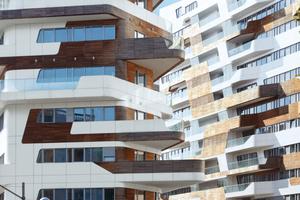 """""""City Life"""": Auf dem ehemaligen Mailänder Messegelände """"Ex-Fiera"""" bauten drei Star-Architekten ein autofreies Stadtquartier. Zum Einsatz kamen Fenster von Schüco aus Aluminium"""