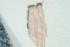 Fassadenschäden sind häufig das Resultat eines Putzes mit zu hoher Druckfestigkeit