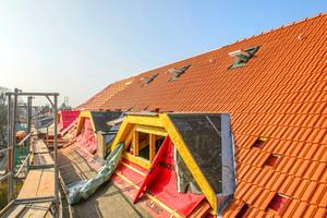 Die Gaubendächer selbst sind als Null-Grad-Dächer angelegt