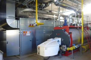 Die Leistungsfähigkeit des BHKW wird mit einen Heißwasserkessel ergänzt