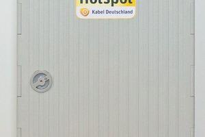 WLAN-Hotspot von Kabel Deutschland: technischer Aufriss einer WLAN-Haube auf Verteilerkasten