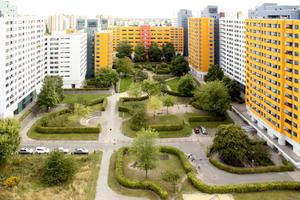 Im Bereich der Wohnhöfe befindet sich die Landschaft durch kontinuierliche Pflege in einem vorbildlichen Zustand