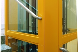 Für die Beschichtung der Stahlkonstruktion stehen diverse RAL-Töne zur Verfügung. Auf diese Weise lässt sich der Schacht gezielt an die Optik des Treppenhauses anpassen<br />