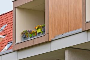 Die Dachgeschosse werden durch sogenannte Dachboxen aufgewertet, in den Küche, Wohnzimmer und Loggien angeordnet sind