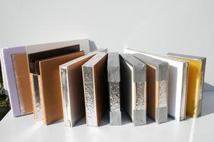 VIP mit verschiedenen Abdeckungen aus Edelholzfurnieren, Holzwerkstoffen, Glas, Aluminium, Kunst- und Verbundwerkstoffe oder Edelstahl als mechanischer Schutz bzw. als fertige Oberfläche
