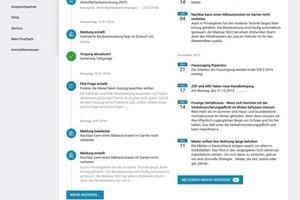 Die einfache Navigation ermöglicht es den Nutzer, das Portal intuitiv zu bedienen<br />