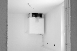 Alle Wohnungen wurden mit einem Lüftungsgerät mit Wärmerückgewinnung ausgerüstet