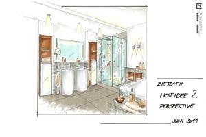 Gute Beleuchtung fürs Bad ist wichtig. Ausgewogene Lichtzonen für unterschiedliche Badnutzungen und für natürliche Materialien<br />