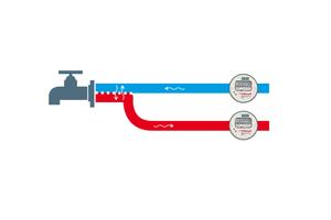 Ohne Rückflussverhinderer: Ändert sich der Wasserdruck nach einem Zapfvorgang, kann das Wasser wieder durch den Wasserzähler zurückfließen