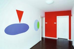 Auch für den Eingangsbereich und die Treppenflure wurde eine Farbgestaltung erarbeitet<br />