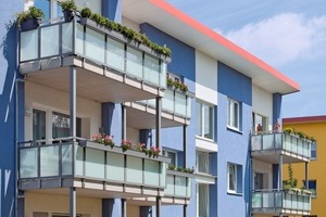 So erstrahlt die Vogelsiedlung nach der Rundum-Modernisierung. Die neuen großzügigen Balkone erhöhen die Wohnqualität der Bewohner<br />