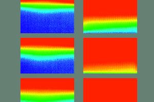 Die Thermografie zeigt deutlich die wesentlich höhere Oberflächentemperatur bei gleichzeitig kürzerer Aufheizzeit