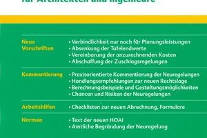 Die neue HOAI. Die Reform der Honorarabrechnung für Architekten und Ingenieure. Dr. Mark von Wietersheim, Claus-Jürgen Korbion, Rudolf Haufe Verlag, 2009, 272 S., 39,80 €, ISBN 978-3-448-09059-8<br />