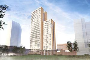 In Österreich ist das Holzbaurecht weniger restriktiv: In Wien soll bis 2018 ein Holzgebäude mit 24 Stockwerken entstehen