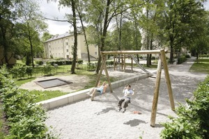 Die Quartiersentwicklung in Berg am Laim. Neben der energetischen Sanierung wurde der Innenhof neu gestaltet<br />
