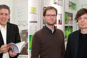 v.l.n.r.: Preisträger Johannes Kappler, Stefan Schwirtz und Thomas Bochmann<br />